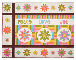 Peace, Love & Joy Quilt by Sarah Vedeler