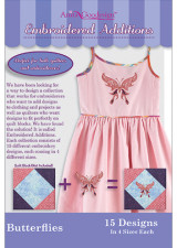 Embroidered Additions - Butterflies - More Details
