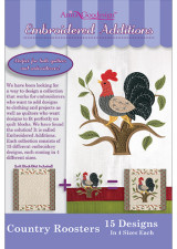 Embroidered Additions - Country Roosters - More Details