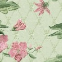 Small Lattice Floral - Green - More Details