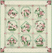 Ring a Ring a Rosie Basket Full of Posies Quilt Kit - Fabric Only