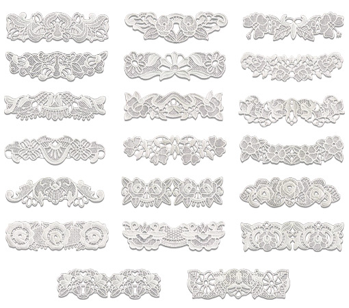 Lace Border Designs Gallery