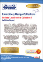 Floriani Embroidery Design Collection   Endless Lace Borders – Collection I + FREE SHIPPING! - More Details