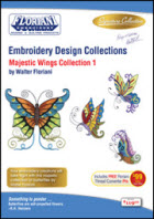 Floriani Embroidery Design Collection Majestic Wings – Collection I + FREE SHIPPING! - More Details