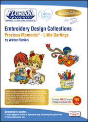 ON SALE! Floriani Embroidery Design Collection Precious Moments® - Little Darlings + FREE SHIPPING!