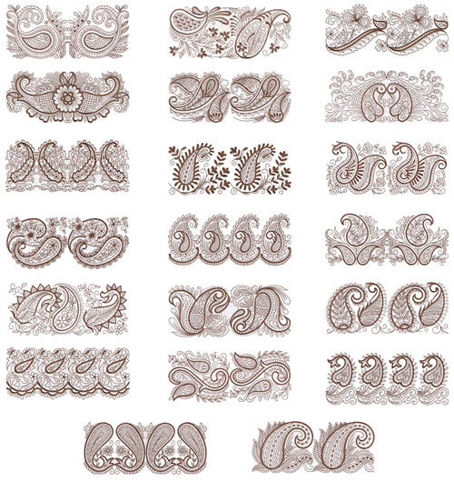 Floriani Passion for Paisley Borders
