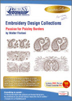 Floriani Embroidery Design Collection Passion for Paisley Borders + FREE SHIPPING! - More Details