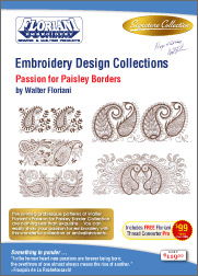 Floriani Embroidery Design Collection Passion for Paisley Borders + FREE SHIPPING!