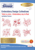 Floriani Embroidery Design Collection Toile La Joie – Embroidery Joy in Red + FREE SHIPPING! - More Details