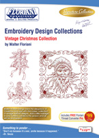 Floriani Embroidery Design Collection Vintage Christmas + FREE SHIPPING! - More Details