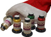Floriani Stocking Stuffer Special 2 - Floriani Metallic Thread & 10 Holiday Designs - More Details