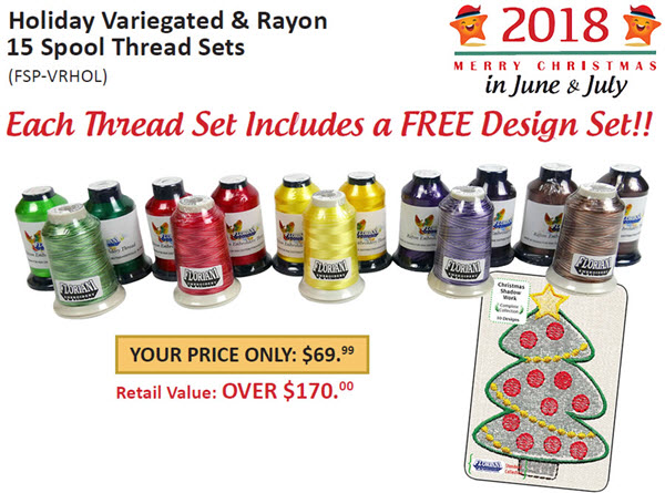 Holiday Variegated and Rayon 15 Spool Thread Sets