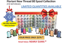 Floriani New Thread 80 Spool Collection + FREE SHIPPING! - More Details