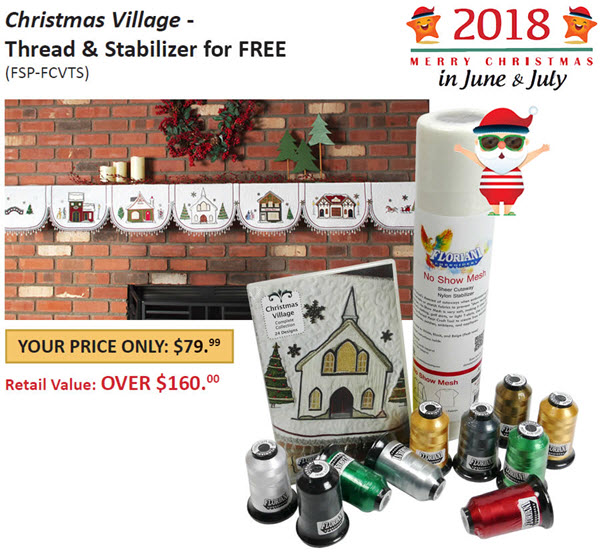 Christmas Village with Free Thread and Stabilize