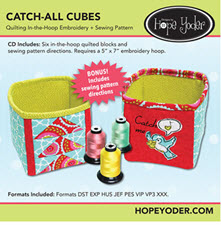 Catch All Cubes Embroidery Collection - More Details