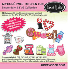 Appliqu� Sweet Kitchen Fun Embroidery CD with SVG Files - More Details