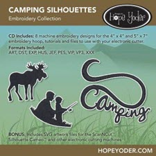 Camping Silhouettes Embroidery Collection - More Details