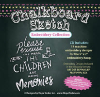 Chalkboard Sketch Embroidery Collection - More Details
