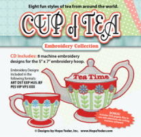 Cup of Tea Embroidery Collection - More Details