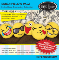 Emoji's Pillow Palz In The Hoop CD with SVG Files - More Details