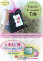 Virtual Pattern Workshop - Madeira Commuter Tote - More Details