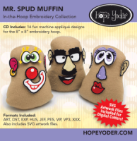Mr. Spud Muffin In-the-Hoop Embroidery Collection - More Details