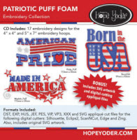 Patriotic Puff Foam Embroidery Collection - More Details