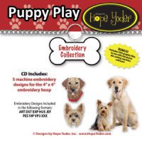 Puppy Play Embroidery CD with SVG Files - More Details