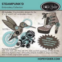 Steampunk'D Embroidery CD with SVG Files - More Details