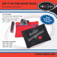 Zip It In-the-Hoop Bags Embroidery Collection - More Details