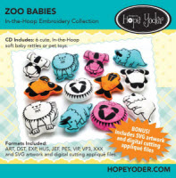 Zoo Babies In-the-Hoop Embroidery Collection - More Details