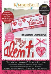 Be My Valentine Bench Pillow (February) - Machine Embroidery CD - More Details