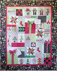Jingle All the Way! Quilt Kit - Black Border - More Details