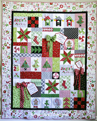 Jingle All the Way! Quilt Kit - White Border - More Details