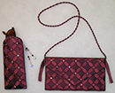 Peaches Purses - Wine Circles Purse Kit (excluding crystals & beads) - More Details