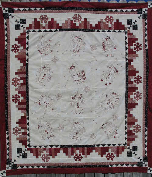 Turnberry Lane Months of Snow Quilt