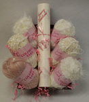 Faux Knitting Kit - White and Rose - More Details